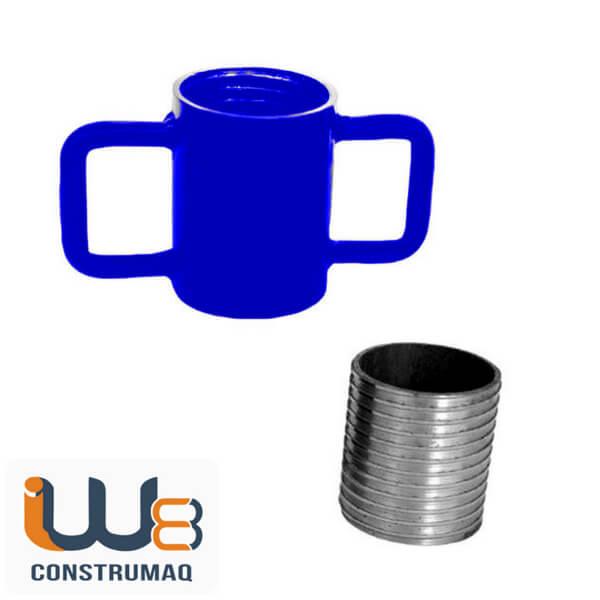 Kit para Escora Metálica Caneca com Alça de Ferro + Rosca Azul